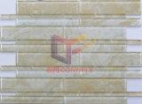 大理石は好むトリップ形(CFS689)の白いガラスモザイク・タイルを