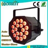 18 uds. de 10W RGBW PAR LED puede
