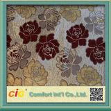 Chenille Material Sofa Fabric avec Jacquard Pattern