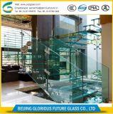 10мм Low-Iron Закаленное слоистое стекло