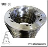 Rd SKD11 D2 낭비된 사용된 고무 타이어 타이어 산업을%s 원형 째는 가위 칼 또는 잎