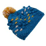 New Design Sweet Girls Multicolor Hand Knit Winter Hat