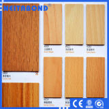 Panel Compuesto de aluminio color madera para la decoración de interiores con un tamaño de 1220*2440*3mm