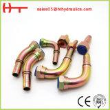 Montaggio di tubo flessibile idraulico diritto forgiato metrico da 90 gradi (50091)