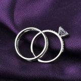 Реальное обручальное кольцо захвата Zircon меди плакировкой белого золота