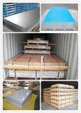Feuille en aluminium fini usine) avec revêtement en PVC bleu/blanc