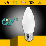 Luz de bulbo de la luz C37 3W 4W 5W 6W E14 E27 de la vela de China LED