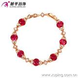 Pulsera elegante del color del oro de Rose del Zircon Xuping de la manera al por mayor de China