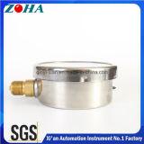 100mm/4 manomètres 1.0% d'antichoc d'exactitude de pouce 1.6MPa avec le connecteur de laiton de caisse de solides solubles