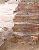 Beige/jaune/tuile rouillée d'ardoise de culture de revêtement de mur