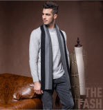 人の方法しまのあるウールポリエステルナイロンアクリルの編まれたスカーフ(YKY4612)