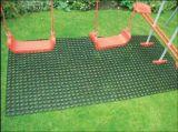 Estera de goma de la hierba de la depresión anti del resbalón para el patio