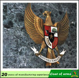 Oro Metal 3D Emblem per Hanging su The Wall