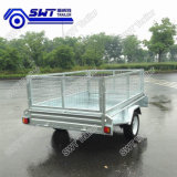 Price Trustworthy Galvanized Box Trailer with Cage (SWT-BT74-L)