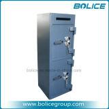 Doppelte Tür-Einbruch-Doppelverriegelungs-Ablagerungs-Tropfen-Safes