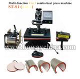 4 en 1 peine de la placa de camisetas Camiseta Hat Cap Taza Mug Precio máquina de impresión la impresora en la India