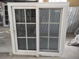 El doble de alta calidad Insualted UPVC ventana corrediza de vidrio de color gris con mosquitero