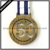 Medaglione di sport con il nastro della medaglia per funzionare (BYH-101134)