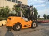 A forquilha de Forklifter LGP da gasolina levanta o Forklift 3tons com cilindro de gás