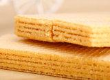 Línea caliente de la preparación de galletas de la oblea del chocolate de la pequeña escala de la exportación de China