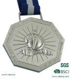 リボンが付いているスポーツメダルか銅によってめっきされる3Dメダル