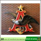 Metal Gold Emblem Décoration pour extérieur