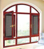 Foshan 제조 304ss 그물을%s 가진 열 틈 알루미늄 여닫이 창 유리창
