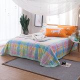 Conjunto impreso materia textil casera de lujo de la hoja de Coverr de la manta del algodón