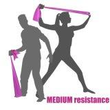 Faixa aeróbia do látex da resistência do estiramento o mais barato para a ioga