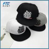 La insignia de encargo 3D bordada parchea los sombreros del Snapback del Mens de los sombreros de los casquillos