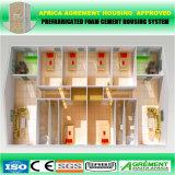 Sitio que acampa de la casa modular prefabricada del envase