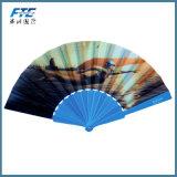 La alta calidad de encargo de madera y los ventiladores plegables de seda de bambú pliegan el ventilador