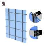 Fabricante de vidro de alumínio da parede de cortina de Frameless da fachada exterior