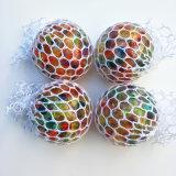 Mesh Squishy Ball - Bola de estresse de uvas de respiro de borracha - apertando a esfera de alívio de tensões colorido
