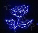 A mostra do laser de /Stage /DJ do clube ilumina a iluminação da cor cheia da animação