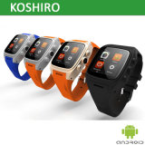 Um Smart Android os relógios com câmera WiFi GPS do telefone móvel