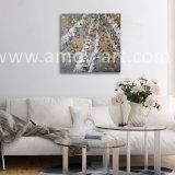 ホーム装飾のためのハンドメイドのギャラリーの覆いのシラカバの油絵