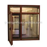 Hölzernes Korn-Puder-Beschichtung-Flügelfenster-Tür-Aluminiumfenster