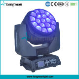UL19PCS 15W RGBW 4in1 Moving Head Efecto de luces LED para el disco
