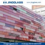 Construção personalizada vidro colorido de Segurança de Impressão Digital de vidro colorido preço baixo de vidro