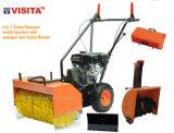 4 em 1 Multifuncional 65cm de largura Gasolina Snow Sweeper Snow Blower