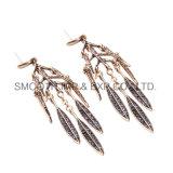 잎 금속 큰 술 귀걸이 모조 다이아몬드 다이아몬드 보석 부속품 선물