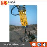 Tipo silencioso disjuntor hidráulico do martelo da demolição da máquina escavadora para 10tons