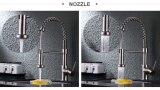 Le robinet en acier de cuisine de Satinless de chrome retirent le taraud de mélangeur de l'eau