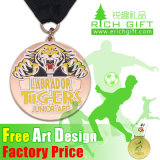 Medaglia personalizzata del gioco di sport del distintivo dell'oro del ricordo al metallo di prezzi di fabbrica