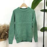 Chandail rond de tricots de collet de chandail épais occasionnel de pull de dames