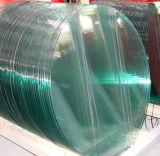 8 mm de verre trempé clair avec à bord rond poli