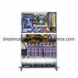 Retour sur investissement élevé Humeng Cheap 8 GPU 1650W PSU 6 Ventilateurs Etherum miner l'affaire pour eth/etc