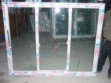 Dreifache Scheiben Belüftung-schiebendes Fenster mit doppeltem Fliegen-Netz