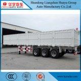 60ton 3車軸側面または半低下の側面または貨物または側板のトラックのトレーラー